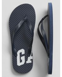 GAP Factory Print Flip Flops - Blue
