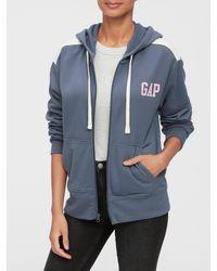 GAP Factory Gap Logo Full-zip Hoodie - Blue