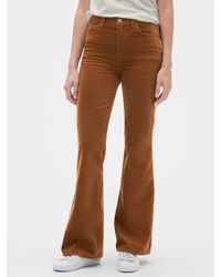GAP Factory High Rise Flare Jeans - Brown