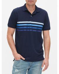 GAP Factory Pique Polo Shirt Shirt - Blue