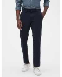 GAP Factory Essential Khakis In Skinny Fit With Gapflex - Blue