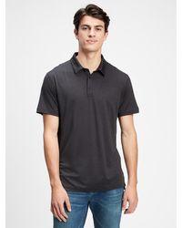 GAP Factory Gapfit Performance Polo Shirt - Black