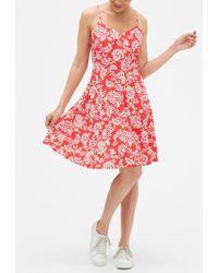 GAP Factory - Print Fit & Flare Cami Dress - Lyst