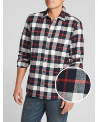 GAP Factory - Two-pocket Flannel Shirt - Lyst