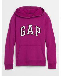 GAP Factory Gap Logo Fleece Hoodie - Pink