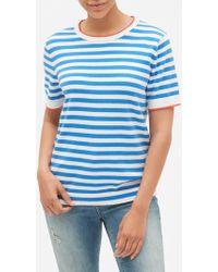GAP Factory Graphic Short Sleeve Sweater - Blue