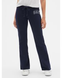 GAP Factory Gap Logo Fleece Pants - Blue