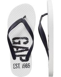 GAP Factory - Factory Logo Flip Flops - Lyst