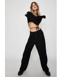 Garage Porter Pleated Straight Pants - Black