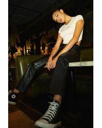 Garage Faux Leather Straight Leg Pants - Black