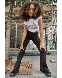Garage Piper Pull On Flare Pants - Black