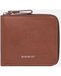 Sandqvist Tyko Leather Wallet - Brown