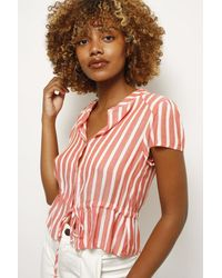 Olivaceous Abbie Striped Top - Pink
