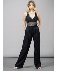 Whyred Renee Front Pleated Trouser - Black