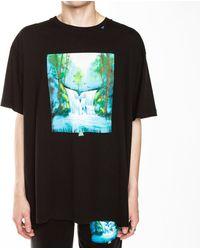 Off-White c/o Virgil Abloh - Waterfall Oversized T-shirt - Lyst