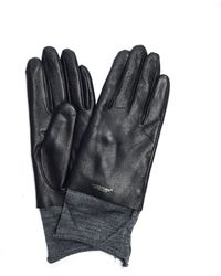 Undercover Leather Gloves - Black