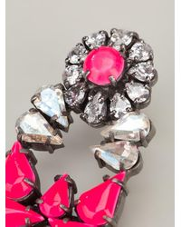 Shourouk Drop Earrings - Pink
