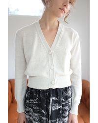 Beklina Cotton Knit Cardigan - White