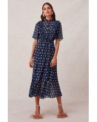 Keepsake Passion Midi Dress - Blue