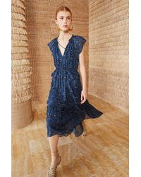 Ulla Johnson Silk Nadya Dress - Blue