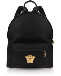 42b6c7cfd9 Lyst - Versace Studded Backpack in Black for Men - Save ...