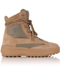 a2712299e37 Lyst - Yeezy Season 2 Suede Crepe Boots Beige in Natural for Men