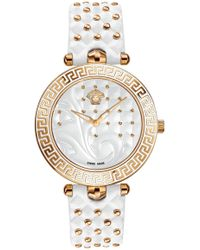 Versace - Vanitas Watch With Alternative Strap White/rose Gold - Lyst