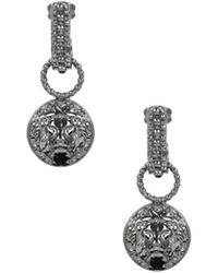 Versus  | Lion Head Drop Earrings Ruthenium | Lyst