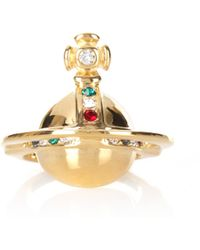 Vivienne Westwood - Solid Orb Ring Yellow Gold - Lyst