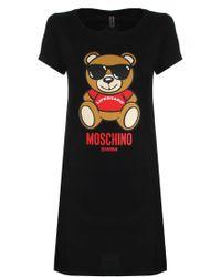 Moschino - Lifeguard Teddy T-shirt Dress Black - Lyst
