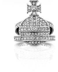 Vivienne Westwood - Orb Ring Clear - Lyst