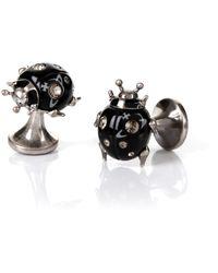 Vivienne Westwood - Ladybird Cufflinks Antique Rhodium - Lyst