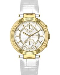 Versus - Versus Star Ferry With Leather Strap White/gold - Lyst