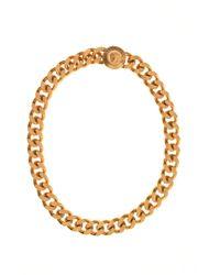 Versace - Chunky Medusa Necklace Gold - Lyst