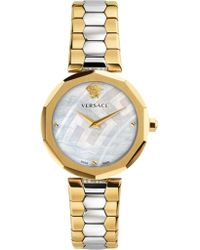 Versace - Idyia 36mm Watch Gold/silver - Lyst