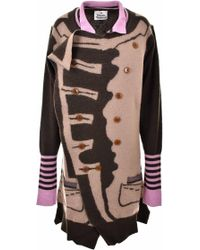 Vivienne Westwood - Military Knit Cardigan Camel/grey/pink - Lyst