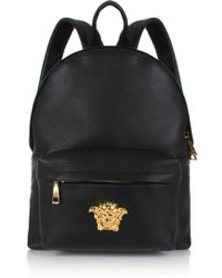 Lyst - Versace Mini Medusa Leather Backpack in Black 7c2a0e4f2d