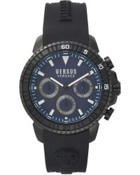 Versus - Aberdeen Pu Strap 45 Mm Watch Blue - Lyst