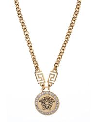 Versace - Medusa Head Crystal Necklace  - Lyst
