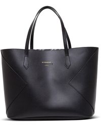 Givenchy - Shopper in Pelle Nera con Logo - Lyst