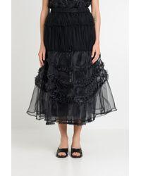 Noir Kei Ninomiya Tulle Long Skirt - Black