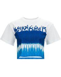 Alberta Ferretti T-Shirt Crop I Love Summer - Blu