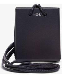 MEDEA Mini Long Strap Crossbody Bag - Black