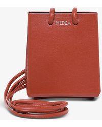 MEDEA Mini Long Strap Crossbody Bag - Red