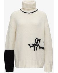 Off-White c/o Virgil Abloh Jumper With Inlaid Logo - White