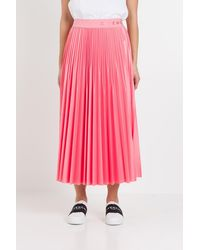 Givenchy Logo Waistband Pleated Skirt - Pink