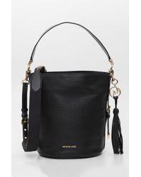 MICHAEL Michael Kors - Brooke Medium Pebbled Leather Bucket Bag - Lyst e1ec3ec0669d5