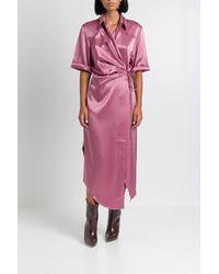 Nanushka - Satin Lais Long Dress - Lyst
