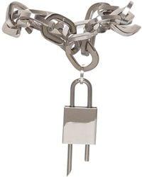 Givenchy Bracciale G Link Lock con Lucchetto - Metallizzato