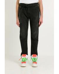 Off-White c/o Virgil Abloh Jeans With Belt - Black